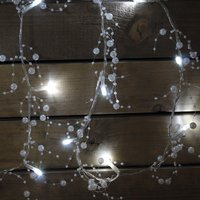 20 LED Battery Operated Peral String Lights Indoor Use Only 370598