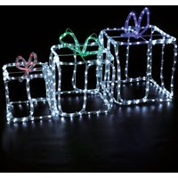 3 Gift Boxes Rope Light Outdoor Use 370947