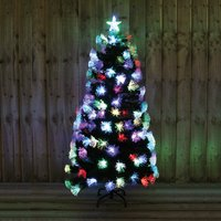 6ft Green Tree with Multi Fibre Optic Indoor Use 370950