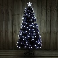 5FT Black Tree with Bright White LED Stars Indoor Use 370952