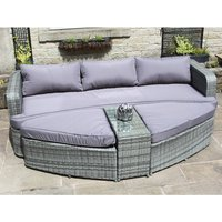 Coney Island Rattan Effect Day Bed 376913