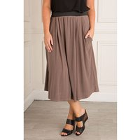 Nicole Fluid Jersey Drape Pocket Skirt 382897