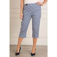 Emelia Printed Cotton Sateen Crop Trouser 20 Inch 384703