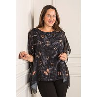 Reflections Printed Chiffon Lined Top 387861