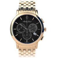 Mathey-Tissot Gents Sport Classic Chronograph Watch with Gold Plated Bracelet 387871