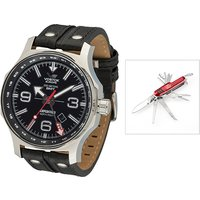 Vostok Europe Gents Dual Time Expedition N1 with leather Strap and FREE Multi-Tool Penknife 389727