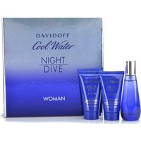 Davidoff Cool Water Night Dive EDT 50ml, Shower Gel and Body Lotion 50ml 400505