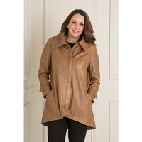 Woodland Leather Dip Back Coat 400670