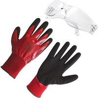 Grip It Gloves with Wraparound Safety Glasses 403321