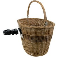 M-Wave Genuine Wicker Quick Release Bicycle Basket 403588