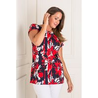 Anamor Print Tunic Top 404535