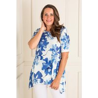 Reflections Textured Print Half Sleeve Tunic 405228