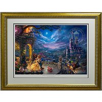 Thomas Kinkade Beauty and the Beast Dancing in the Moonlight Limited Edition 405481