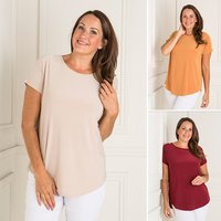 Nicole 3 Pack Soft Touch Short Sleeve Top 405528