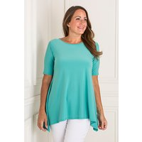Reflections Half Sleeve Dip Hem Top 405712