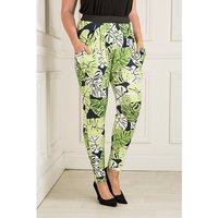 Nicole Leaf Jersey Drape Trouser With Elasticated Waist 407942