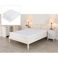 Downland 3 Lumbar Support Duck Feather Topper and Mattress protector, Single 408408