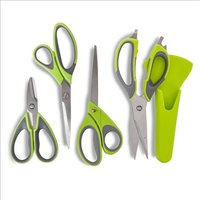 Tower Tower Health Set Of 4 Scissors - Green 408424