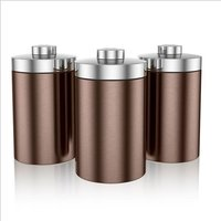 Swan Townhouse Set Of 3 Canisters Copper 408638