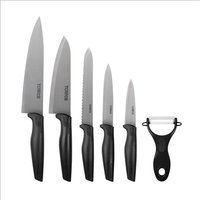 Tower 6Pce S/Steel Knife Set With - Black 408712