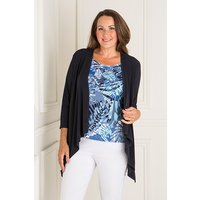 Reflections 2 in 1 Mock Jacket and Printed Top 408966
