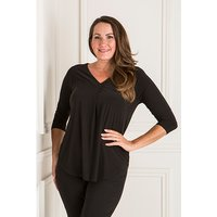 Styled By Pleat Front 3/4 Sleeve Top 409201