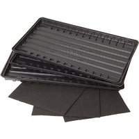 Set of 3 Watering Trays and Capillary Mats 409327