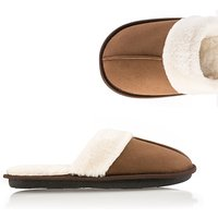 Ladies Faux Fur Memory Foam Slippers 409933
