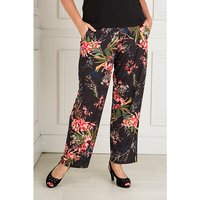 Styled By Exotic Floral Print Straight Leg Trouser 427471