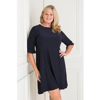 Styled By Fit and Flare Dress with Frill Sleeve 427473