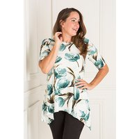Reflections Half Sleeve Print Dip Hem Tunic 427592