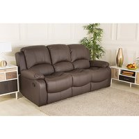 Chicago Bonded Leather Three Seater Recliner Sofa 427624