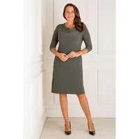 Nicole 3/4 Sleeve Cowl Neck Dress 427871