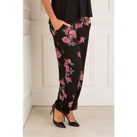 Styled By Rose Print Crepe Trouser 428102