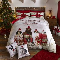 Christmas Party Animal Double Size Quilt Set 432886