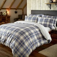 Brushed Tartan Check King Size Fitted Sheet 433021