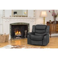 Lincoln Bonded Leather Manual Recliner Armchair 433066