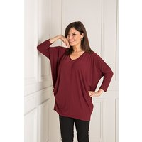 Styled By V-Neck Batwing Top with Pockets 433731