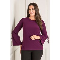 Reflections Bell Sleeve Top with Tie Detail 436273