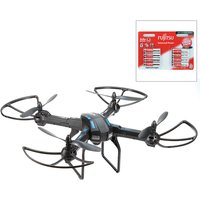 Rotorz RT12 Quadcopter Drone with HD Video Camera with 8 x AA Batteries 437375