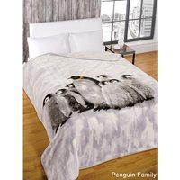Group of Penguins Mink Throw 150 x 200cm 437678