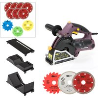 Exakt Deep Cut Plunge Saw with Pipe/Protector Attachments, 13 Extra Blades 437983