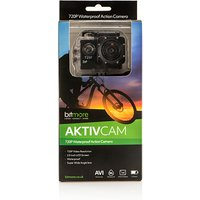 Bitmore Aktiv Cam HD Action Camera with Waterproof case, Bike Mount, Helmet Mount, Adhesive Mounts, Velcro Straps, Charging Cable 438237