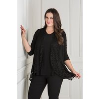 Nicole Lace Jacket with Short Sleeve Top 438332