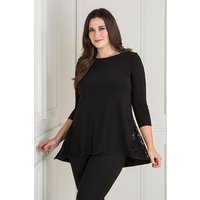 Nicole Lace Insert Dip Back Top 438334