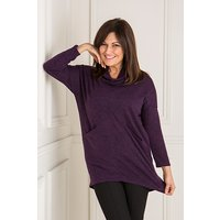 Nicole Cowl Neck Top with Pockets 438700