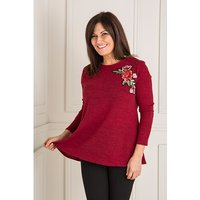 Nicole Applique Flower Detail Top 438701