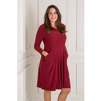 Nicole Cowl Neck Dress with Pockets 438847