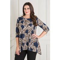 Reflections Abstract Flower Print Brushed Tunic 439053