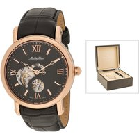 Mathey-Tissot Automatic with Skeleton Dial, Leather Strap, Luxury Box and Pen 439302